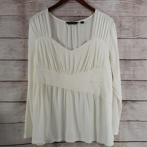 Dialogue Pleated Blouse